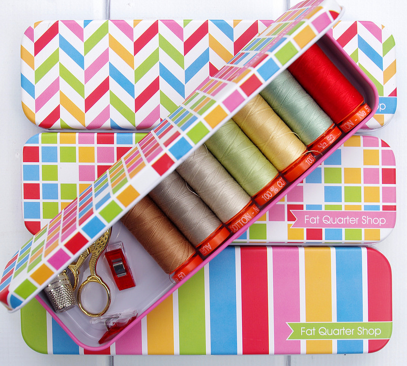 Fat Quarter Shop Tins for Sewing Supplies and Notions