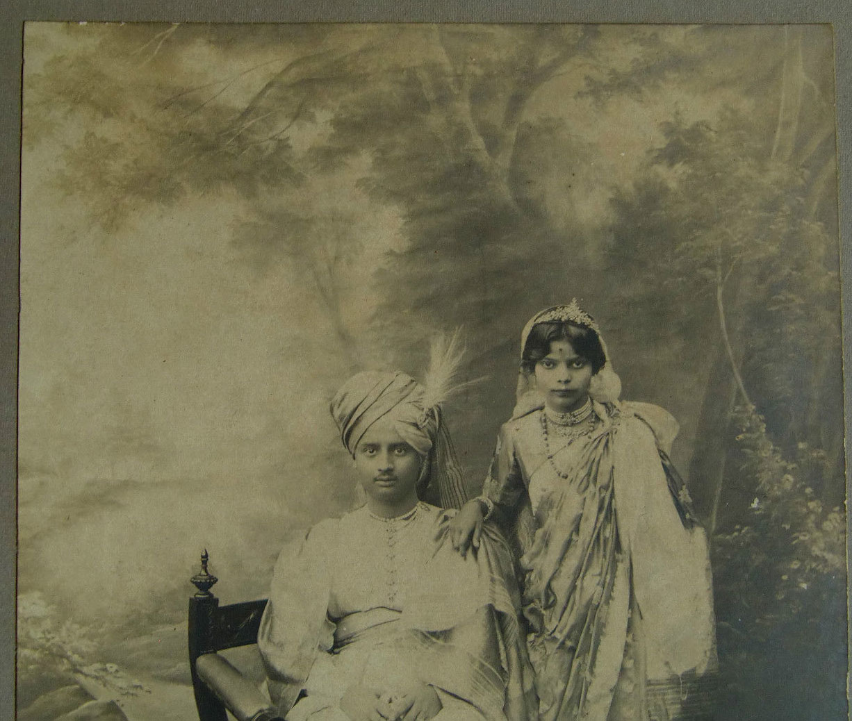Photograph of a Newly Married Couple