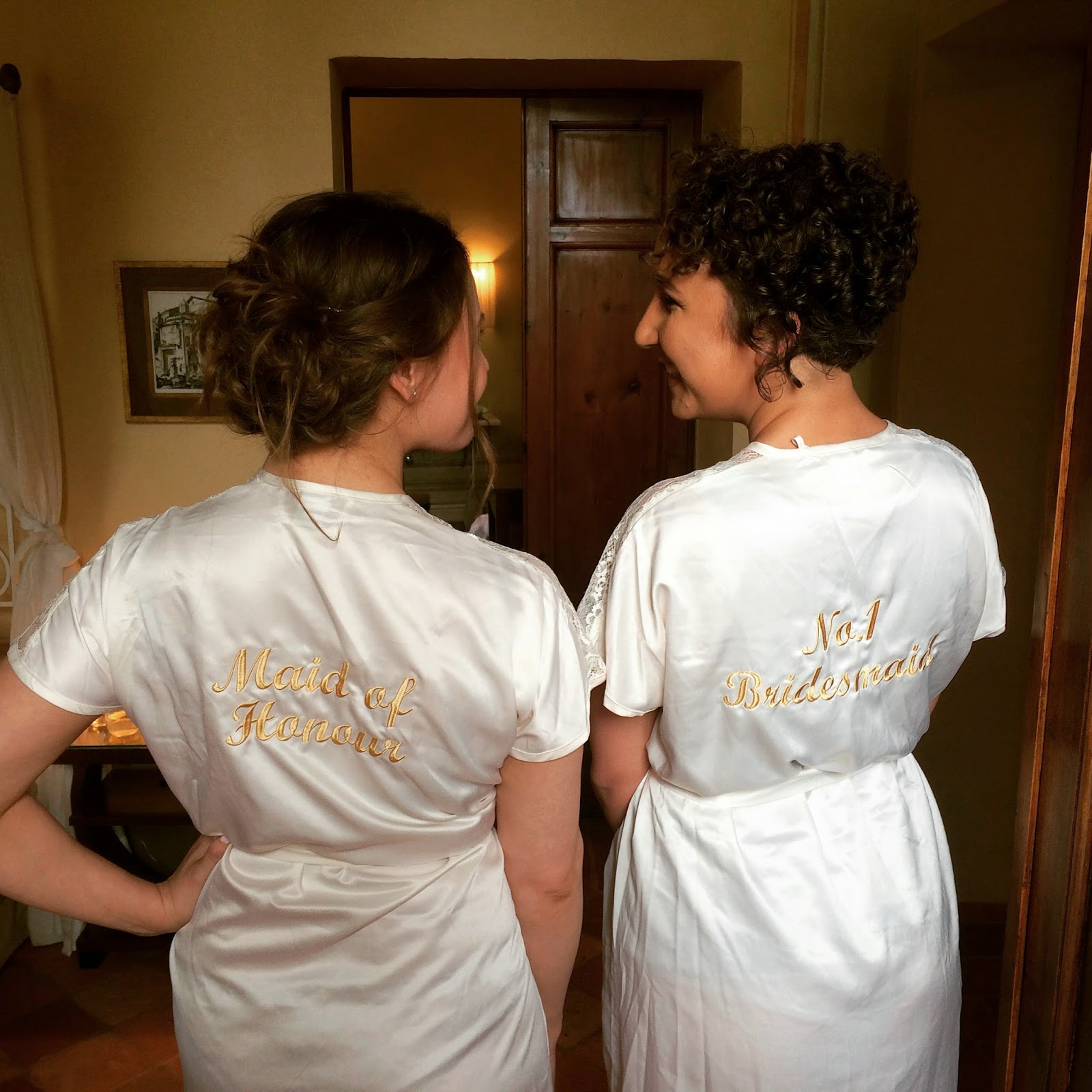 bridesmaid dressing gowns