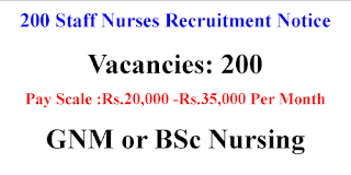 200 Staff Nurse Job Opportunities in Gujarat