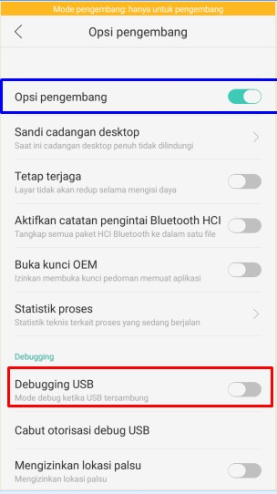 DEBUG USB HP OPPO