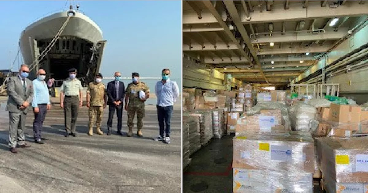 Greece Delivers 180 Tonnes Of Aid To Beirut Following The City's Devastating Port Explosion