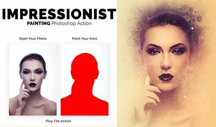 Impressionist Painting Photoshop Action