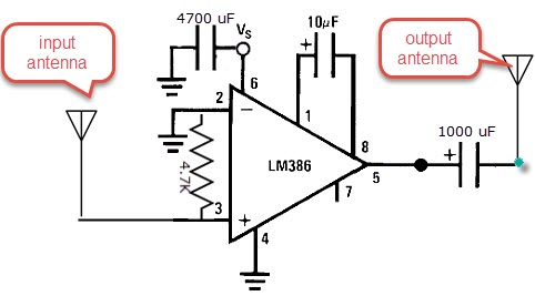 4G LTE Signal booster 2019 / amplifier circuit using LM386