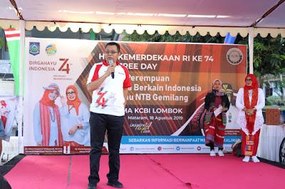 Hadir di acara Car Free day KCBI,  Gubernur Zul, Ibu - Ibu Sehat Wujudkan NTB Gemilang