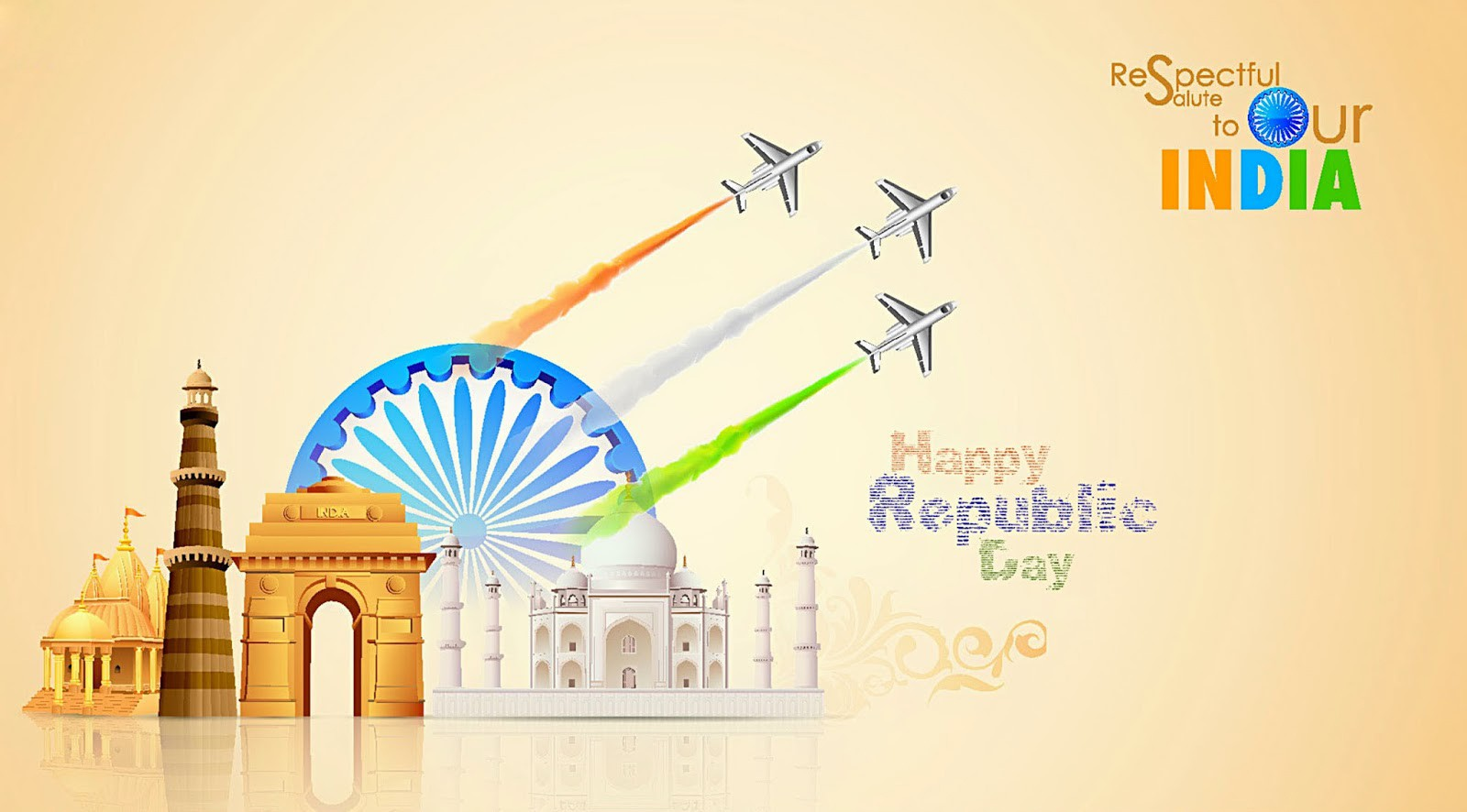 26 january republic day greeting cards ecards and cliparts indian nation republic day greeting card message wallpaper m4hsunfo