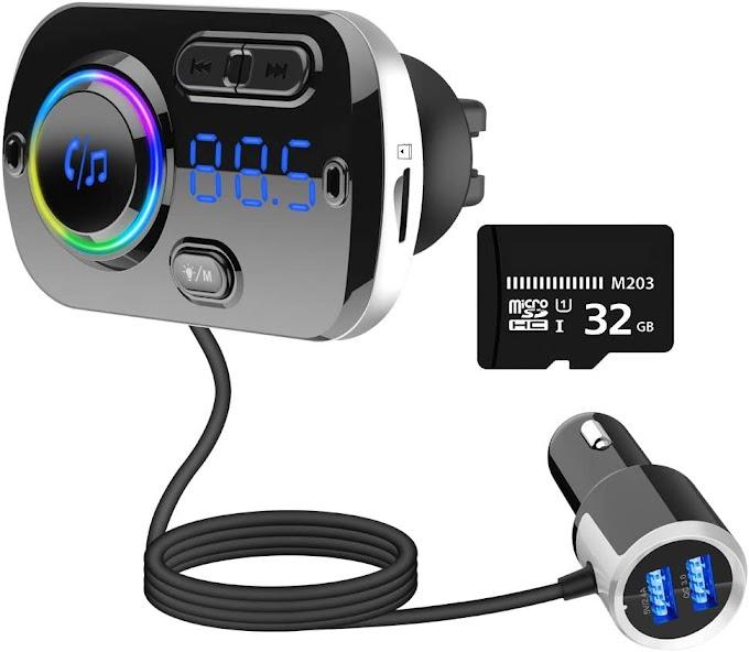 محول راديو للسيارة مع مشغل موسيقى وشاحن سريع QC3.0