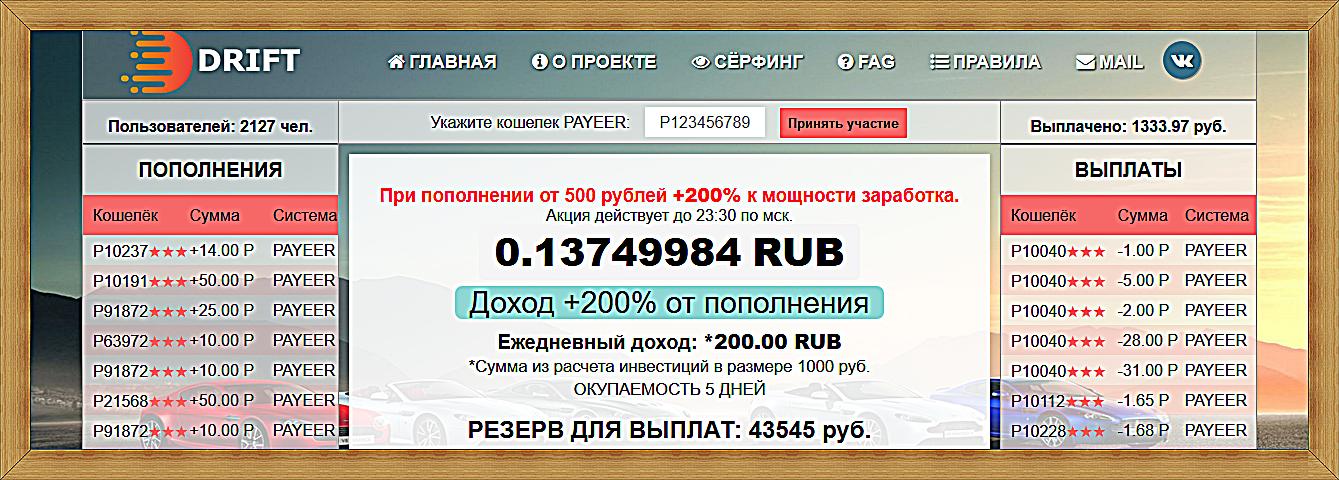 Мошеннический сайт drift-invest.site – Отзывы, развод, платит или лохотрон?