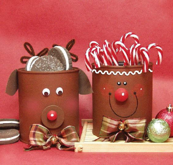 Aprende c mo decorar latas de leche para esta navidad for Christmas crafts out of tin cans