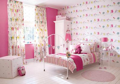 quarto para meninas cor de rosa