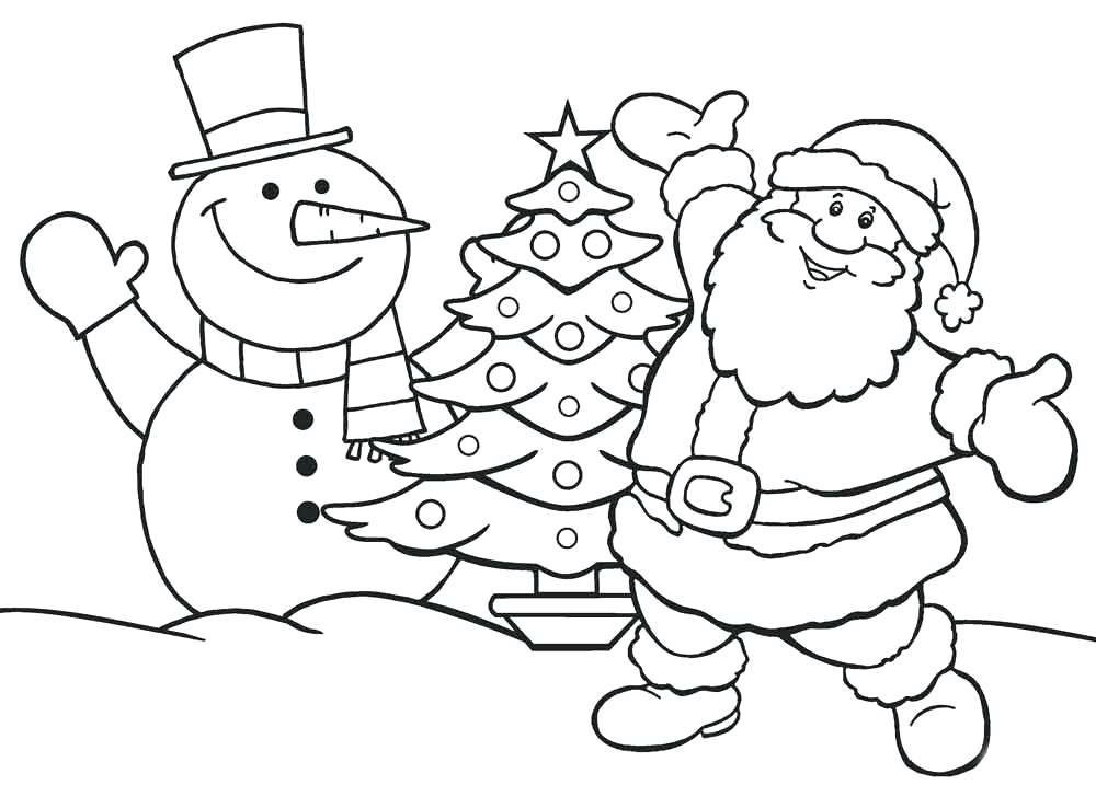 christmas santa claus coloring pages free printable - 1000×717