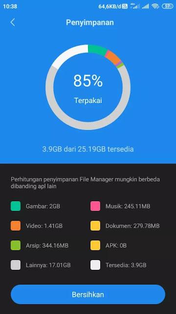 Cara Hapus File Lainnya di HP Xiaomi