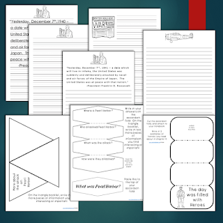 Interactive notebooks about Pearl Harbor for Kids!