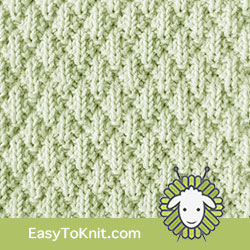 #KnitPurl Seersucker stitch. FREE Knitting Pattern. EASY TO KNIT + Easy to remember #easytoknit #knitting