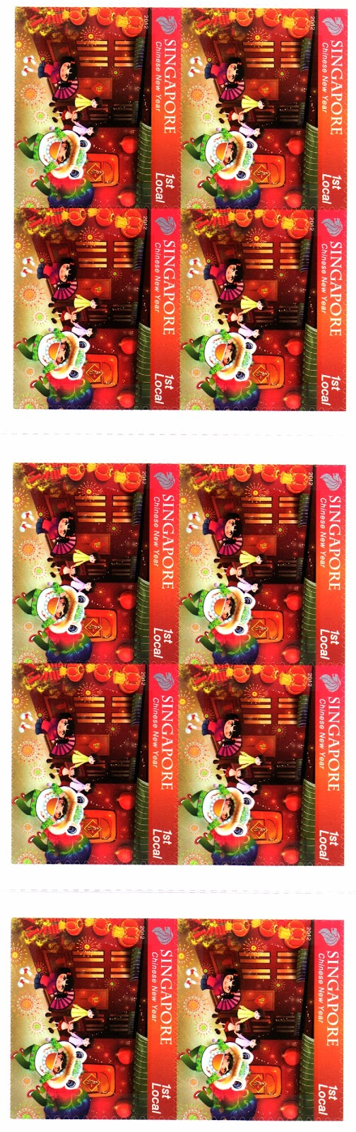 Self-adhesive Stamp Booklet S$2.55 - Chinese New Year
