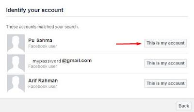 Facebook Password Recovery