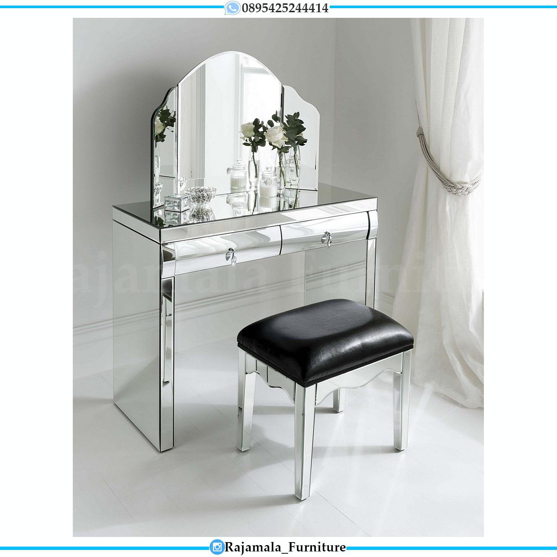 New Model Meja Rias Terbaru Minimalis Design Elegant Full Glass RM-0160