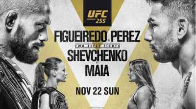 Watch UFC 255: Figueiredo vs. Perez 11/21/2020 PPV Full Show Online Free