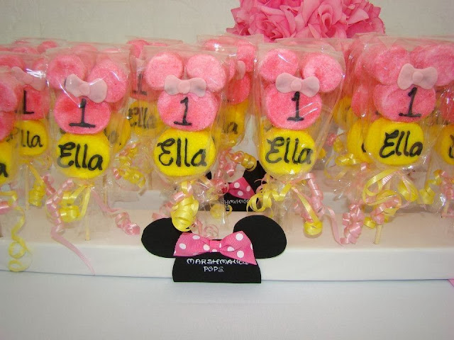 minnie mouse party favors marshamallow