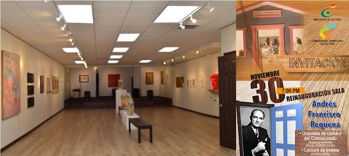 Inaugurarán nueva sala de eventos en el Comisionado Dominicano de Cultura este jueves 30 de noviembre