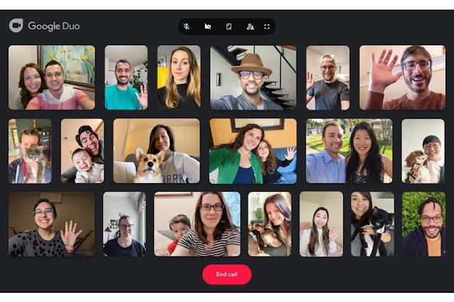 Google Naikan Kapasitas Jumlah Pengguna Pada Fitur Duo Menjadi 32 Orang