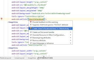 Cara membuat metode onClick dari layout