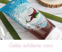 Gelée exfoliante coco bio de Emma Noël