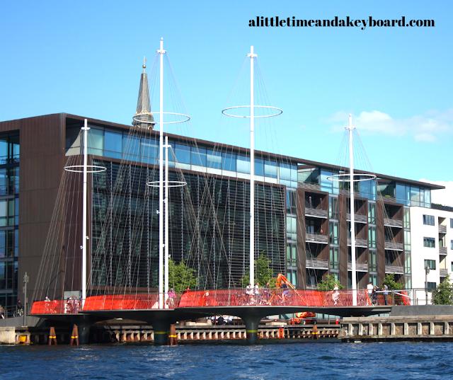 The Circle Bridge immediately draws attention in Copenhagen, Denmark