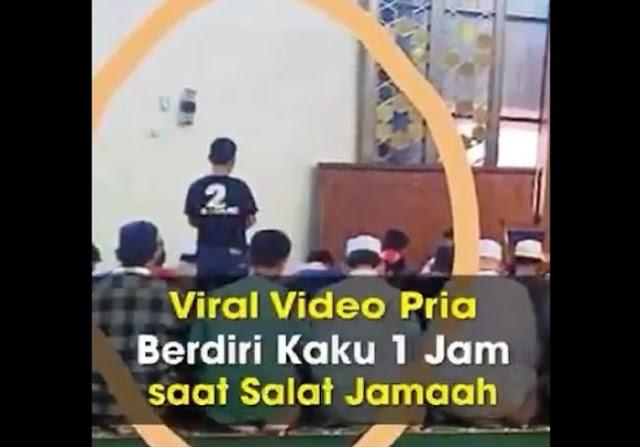 Viral Video Pria Berdiri Kaku 1 Jam saat Shalat Jamaah... Dia Melihat Api