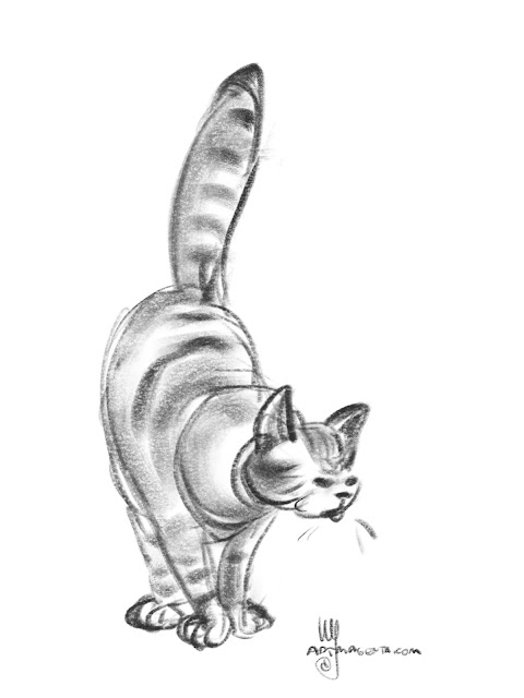 Cat sketch by Artmagenta