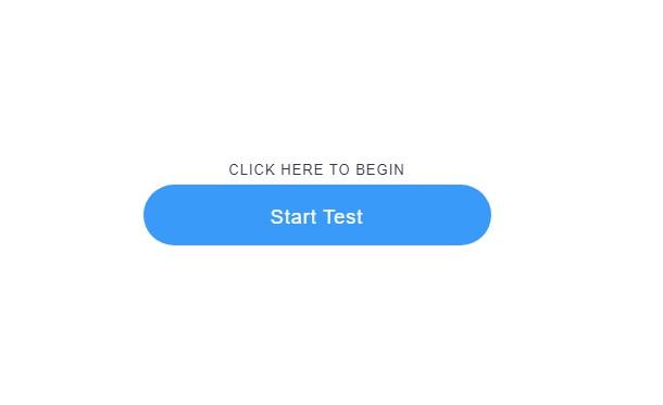 begin speed test of your internet