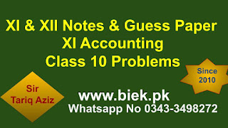 1st year Accounting Class 10