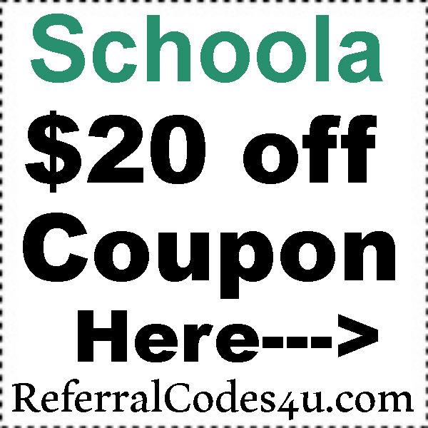 Schoola.com Referral Codes 2016-2017, Schoola Promo Codes, Schoola.com Discount Code