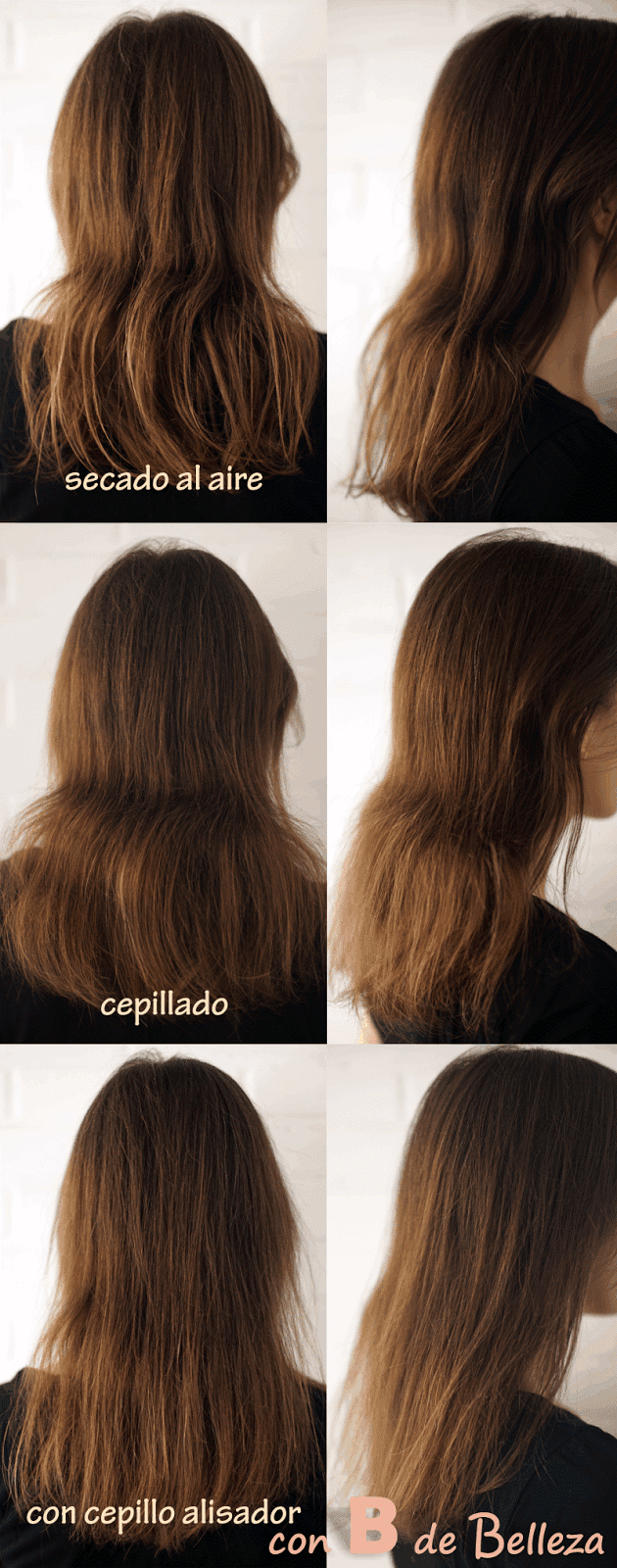 Fotos y antes después cepillo térmico