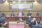 DPRD Tanjabbarat menggelar rapat paripurna ke empat di hadiri Wakil bupati