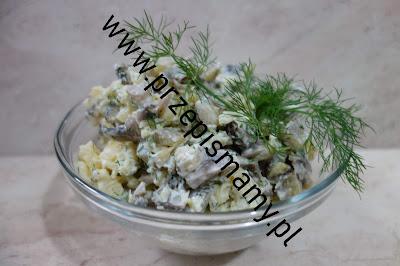 Sałatka z ziemniaków i pieczarek
