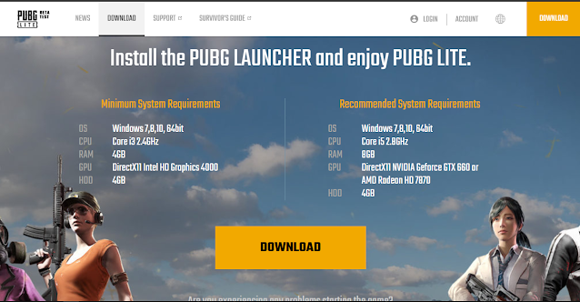 How can we download PUBG for PC?