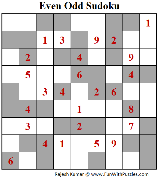 Even Odd Sudoku (Fun With Sudoku #120)