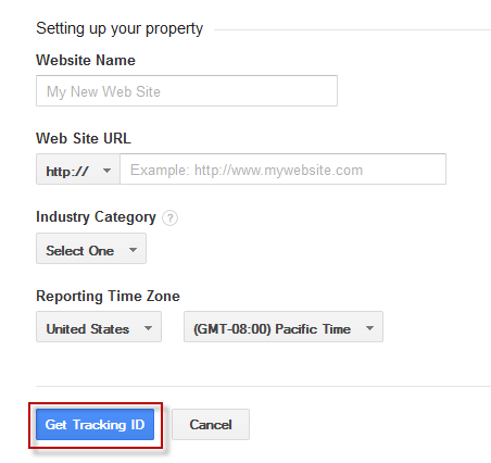 get google analytics tracking id