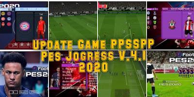 """Renew Terbaru Game PPSSPP PES """"Jogress Versi 4.1 2020"""" Mirip Ps4"""