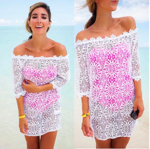 1fb2090022cf16 Koronkowa tunika plażowa - zawsze kobieca i seksowna | LiliEss ...