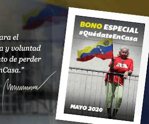Blog patria.org.ve Bono Especial #QuédateEnCasa (mayo 2020)