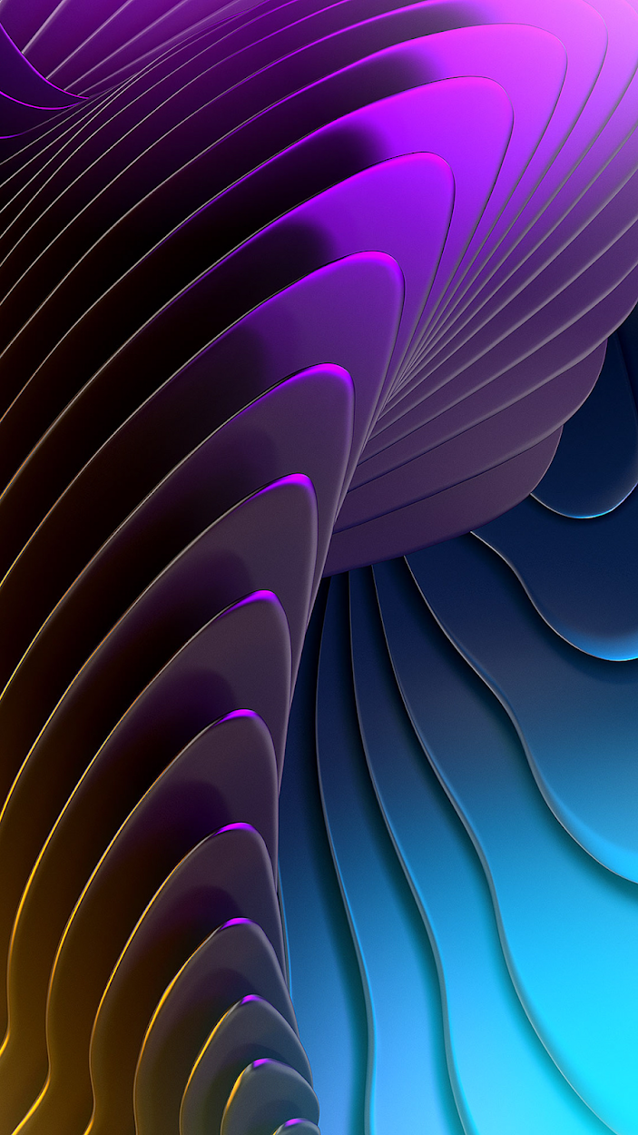 aesthetic forms purple and blue wallpaper in 1080 x 1920 pixels