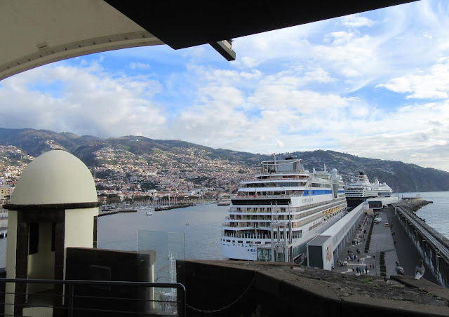 a fantastic view of the Funchal harbor