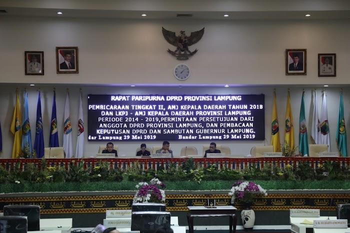 DPRD Lampung Nilai LKPJ-AMJ Gubernur Ridho Sudah Baik, Rekomendasi dan Catatan akan Ditindaklanjuti