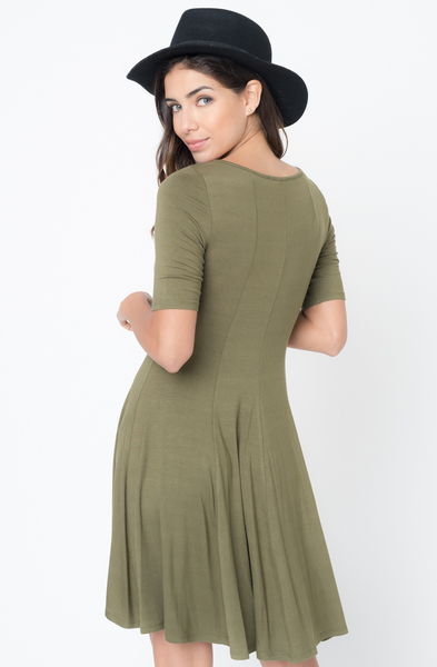 Buy Now Paneled Flared Dress Online $34 -@caralase.com