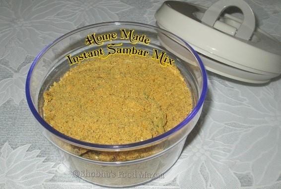 Shobhas Food MazaaHOME MADE INSTANT SAMBAR MIX