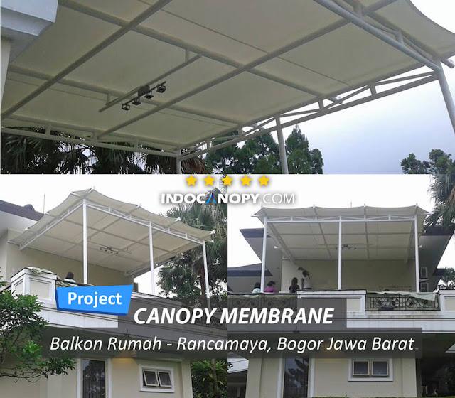 canopy membrane balkon rumah