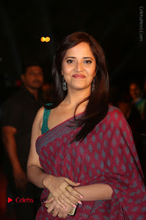 Telugu Television Anchor Anasuya Stills in Saree at Gemini TV Puraskaralu 2016 Event  0080.JPG