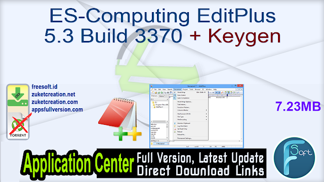 ES-Computing EditPlus 5.3 Build 3370 + Keygen
